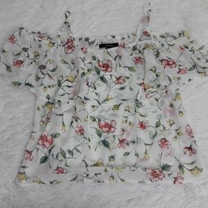 Forever 21 S Blouse Floral Straps off shoulder S